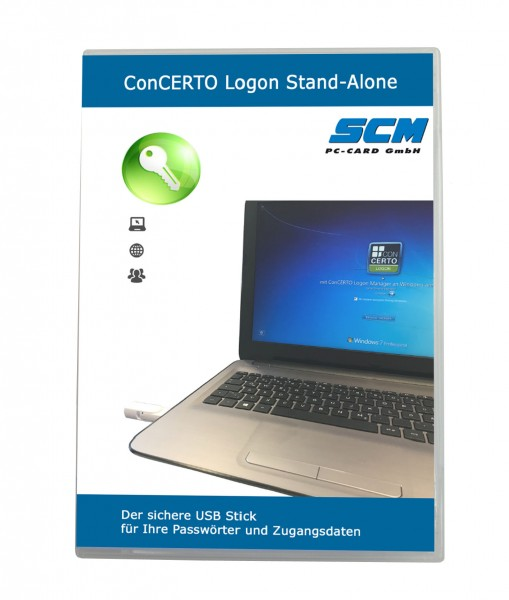SCM PC-Card GmbH Concerto Logon Stand-Alone - Anmeldung per USB Stick Plus Passwort Manager