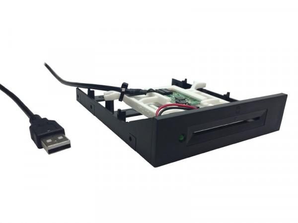 SCR333 v3 schwarz - SCM USB 3,5'' SmartCard Reader / Kartenleser 3.5 Zoll