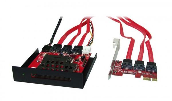 ICS-D1 PCIe 3,5 Laufwerk zum Auslesen von ExpressCard 34/54 Karten und Adaptern