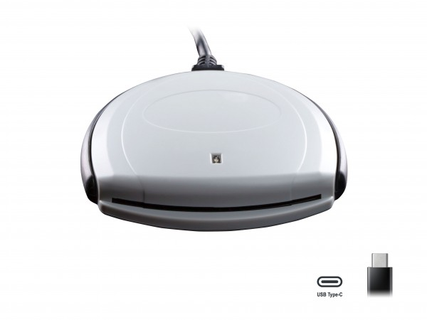 SCR 3310 v2.0 USB-C - SCM USB SmartCard Leser (auch für 1,8V) - ideal für OnlineBanking / sicherer Zugang