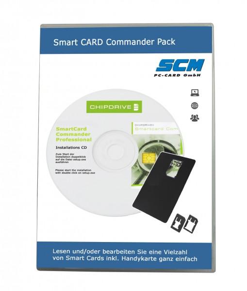 Smart Card Commander Pack - Lesen und Bearbeiten von verschiedenen Chipkarten / Handy SIM