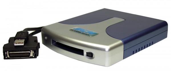 ICS-235 ATA - USB Single-Slot Kartenlesegerät für ATA Karten und Adapter CF, SD, MMC, SM, Microdrive