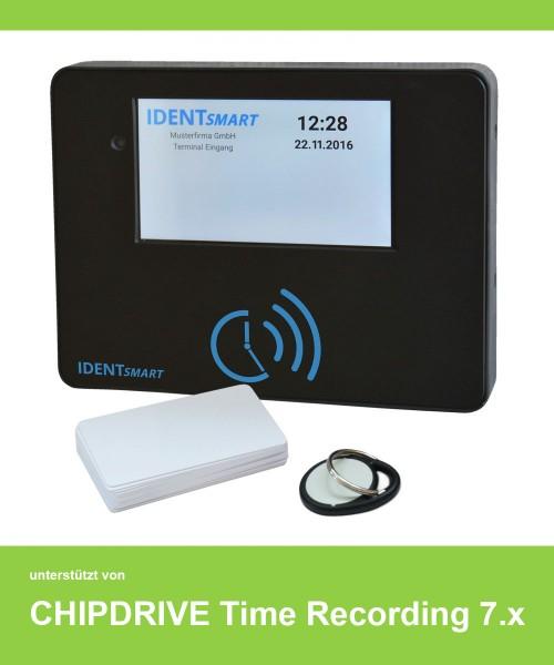 IDENTsmart ID500 TR Zeiterfassung Set 15 Mitarbeiter, mit Chipdrive Timerecording verwendbar