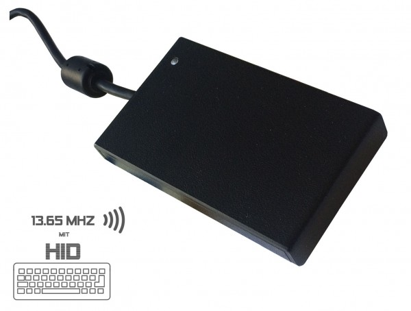 AMID RFID Multi-ISO Leser mit Keyboard-Emulation USB 2.0 / 13,56 MHz / ISO14443 und ISO15693 / CCID