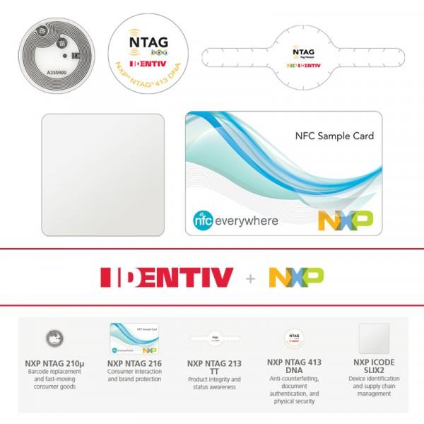 Identiv NFC Tag Starter Kit - 25 Stück Typ NFC Forum Typ 2/4/5 NTAG - und iCode-Tag-ICS NXP