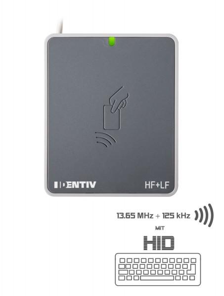 SCL uTrust 3721 F 13.65 MHz HF & 125 kHz LF USB RFID Kontaktlos Leser mit HID (Keyboard-Emulation)