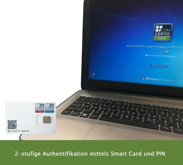 SCM PC-Card GmbH Concerto Logon CARD - Anmeldung per Karte plus Passwort Manager -