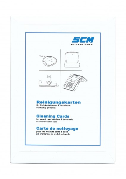SCR Card Cleaning Kit 10er Pack - Reinigungskarten für Kartenleser / Chip Kartenleser