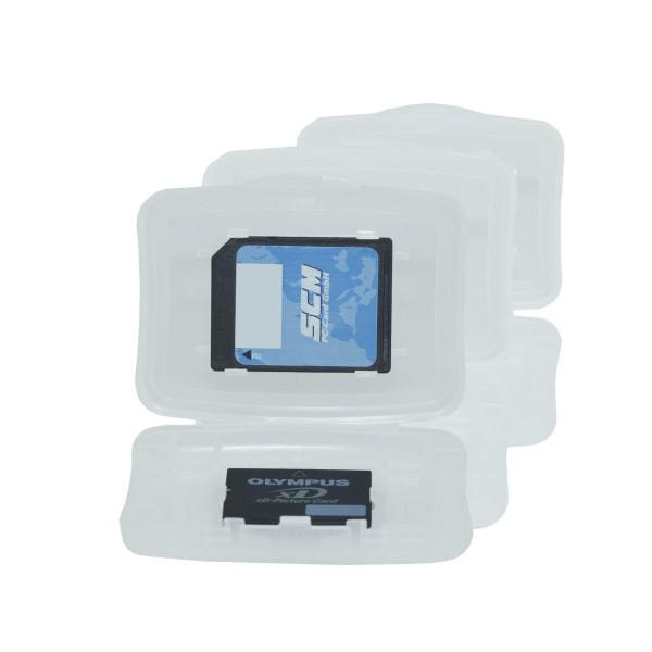 SCM MC-HardCase Universal6 - universelles Media Case 3er Pack - Aufbewahrung für Speicherkarten